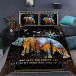 Camping And Into The Forest I Go Quilt Bed Set