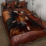 Beautiful Horse Spirit Quilt Bed Set