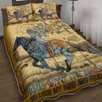 And Into The Barn I Go To Lose My Mind - Horse Lover Quilt Bed Set