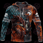 3D Tattoo And Dungeon Dragon Hoodie