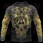Viking Tattoo Special Yellow 3D All Over Printed Hoodie