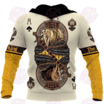 3D Yellow Ace Space Lion King Poker All Over Printed Hoodie