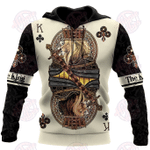 King Club Lion Poker 3D All Over Printed Hoodie