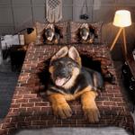 German Shepherd Brick Crack Bedding Set