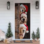Golden Retriever Christmas Door Sticker