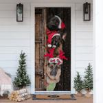 German Shepherd Christmas Door Sticker HPV01