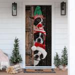Boston Terrier Christmas Door Sticker