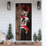 French Bulldog Christmas Door Sticker