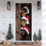 Rottweiler Christmas Door Sticker