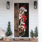 Basset Hound Christmas Door Sticker