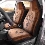 Love Horses Leather Pattern Print Car Seat Covers