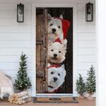 Westie Christmas Door Sticker