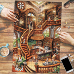 Basset Hound Coffee Shop - Puzzle