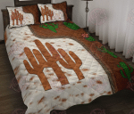 Cactus Leather Pattern Quilt Bed Set