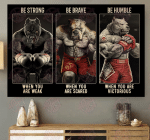 Pitbull Boxing Be Strong Poster