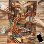 American Staffordshire Terrier Coffee Shop - Puzzle