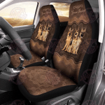 German Shepherd Mandala Pattern Car Seat Cover