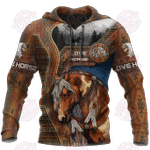 Native Horse 3D All Over Printed Hoodie