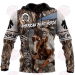 American Paint Horse 3D All Over Print Hoodie
