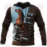Love Horse 3D All Over Print Hoodie