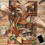 Australian Shepherd Coffee Shop - Puzzle