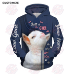 Just A Girl Who Loves Goat Customize 3D All Over Printed Hoodie