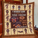 Dachshund True Friend Quilt Blanket