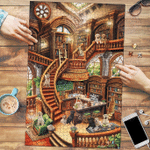 Labrador Retriever Coffee Shop - Puzzle
