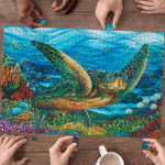 Turtle In Sea - Puzzle