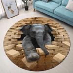 Love Elephant Premium Round Rug