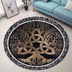 Love Viking Norse Mythology Christmas Premium Round Rug