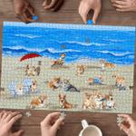 Corgi In Beach - Puzzle