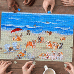 Bulldog In Beach - Puzzle