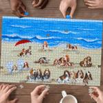 Basset Hound In Beach - Puzzle