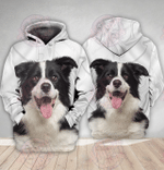 Border Collie 3D All Over Printed Hoodie