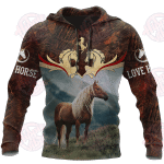 Love Horse 3D All Over Printed Hoodie HPV03