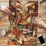 Golden Retriever Coffee Shop - Puzzle
