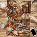 Siberian Husky Coffee Shop - Puzzle