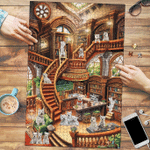 West Highland White Terrier Coffee Shop - Puzzle