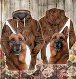 Love German Shepherd 3D All Over Printed Hoodie