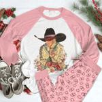 Cowgirl Raglan Pajama Set Beautiful Cowgirl