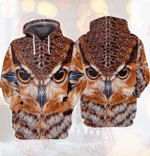 Owl 3D All Over Printed Hoodie