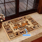 Dachshund Welcome Personalized Doormat