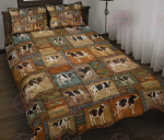 Vintage Cow Quilt Bed Set