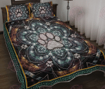 Dog Paw Visionary Mandala Quilt Bed Set