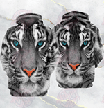 White Tiger 3D All Over Printed Hoodie