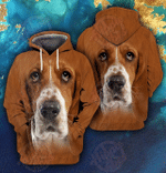 Basset Hound 3D All Over Printed Hoodie