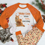 Maine Coon Raglan Pajama Set Fix Everything