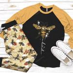 Bee Raglan Pajama Set Bee Kind