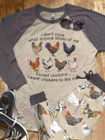 Chicken Raglan Pajama Set Chicken Lover